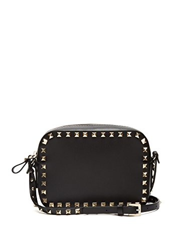 (ヴァレンティノ) VALENTINO Rockstud camera leather cross-body bag Black ロックスタッドカメラレザークロスボディバッグ (並行輸入品)