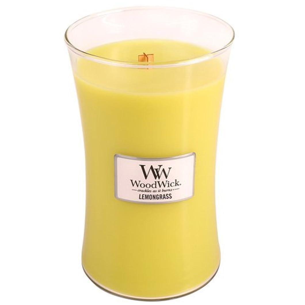 リットル実現可能性先にWoodwick Lemongrass Jar Candle Large [並行輸入品]