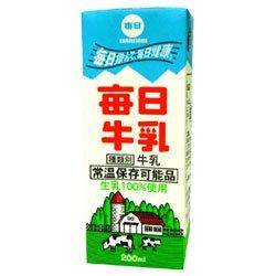 毎日牛乳 200ml紙パック×24本入×(2ケース)