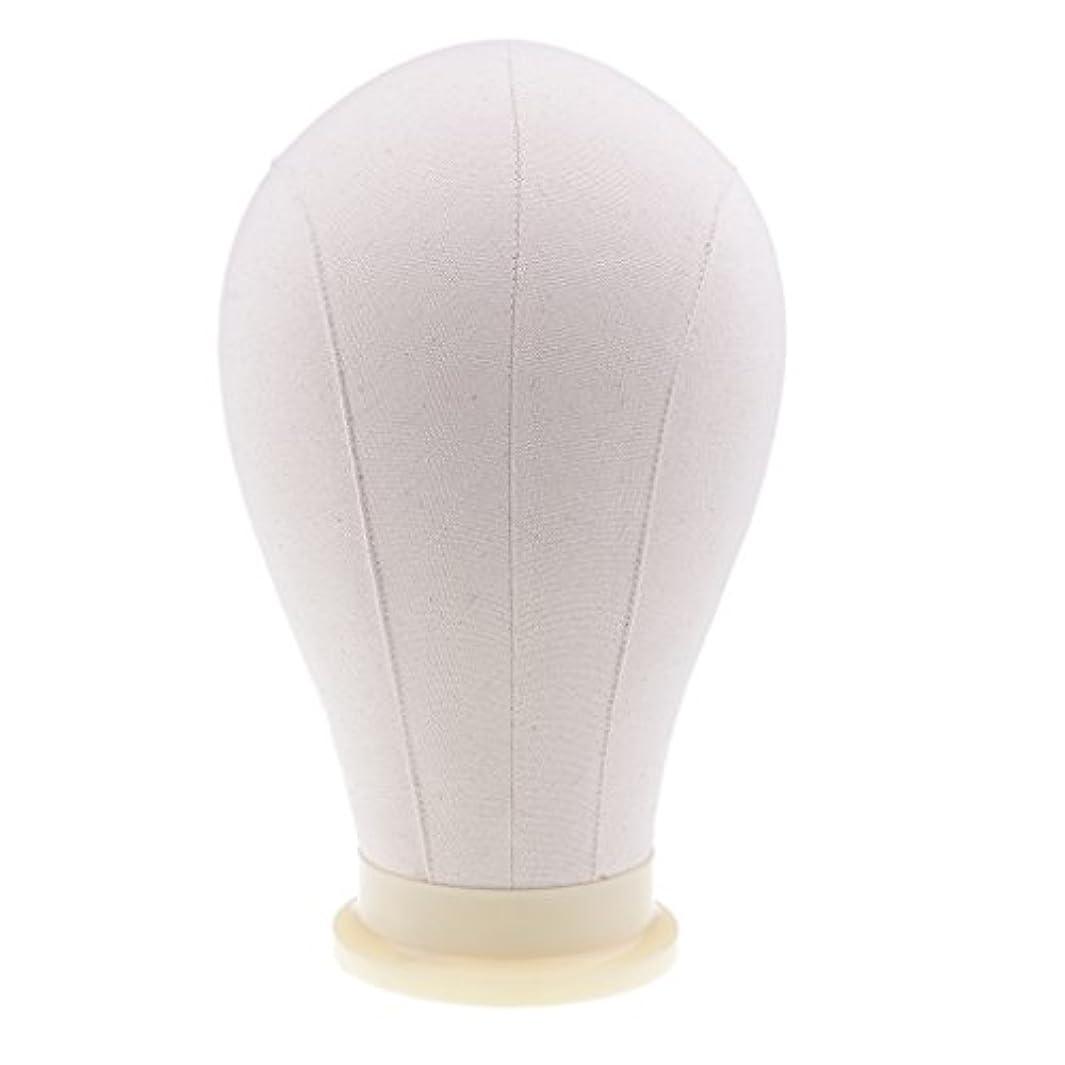 スカリー崇拝します会員マネキンヘッド ウィッグ キャンバス 頭部モデル かつら 帽子 メガネ ディスプレイ ホルダー 4サイズ - 24インチ