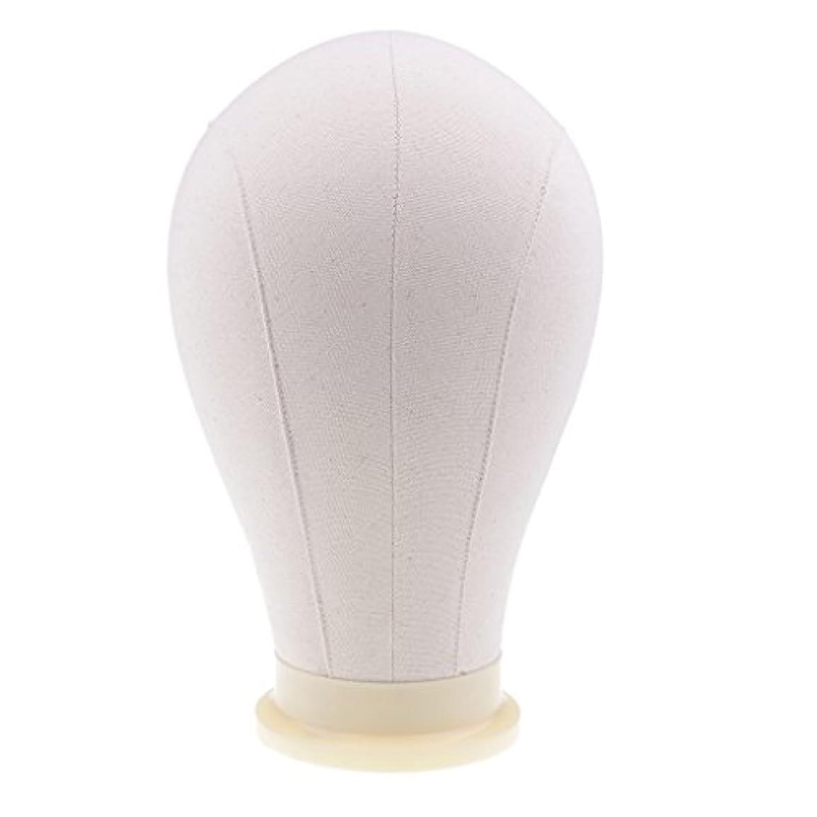 セメントビートリマークマネキンヘッド ウィッグ キャンバス 頭部モデル かつら 帽子 メガネ ディスプレイ ホルダー 4サイズ - 24インチ