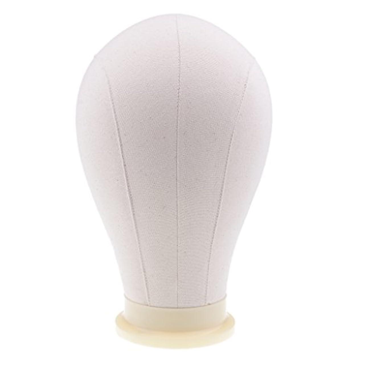 細い着飾るスライスマネキンヘッド ウィッグ キャンバス 頭部モデル かつら 帽子 メガネ ディスプレイ ホルダー 4サイズ - 24インチ