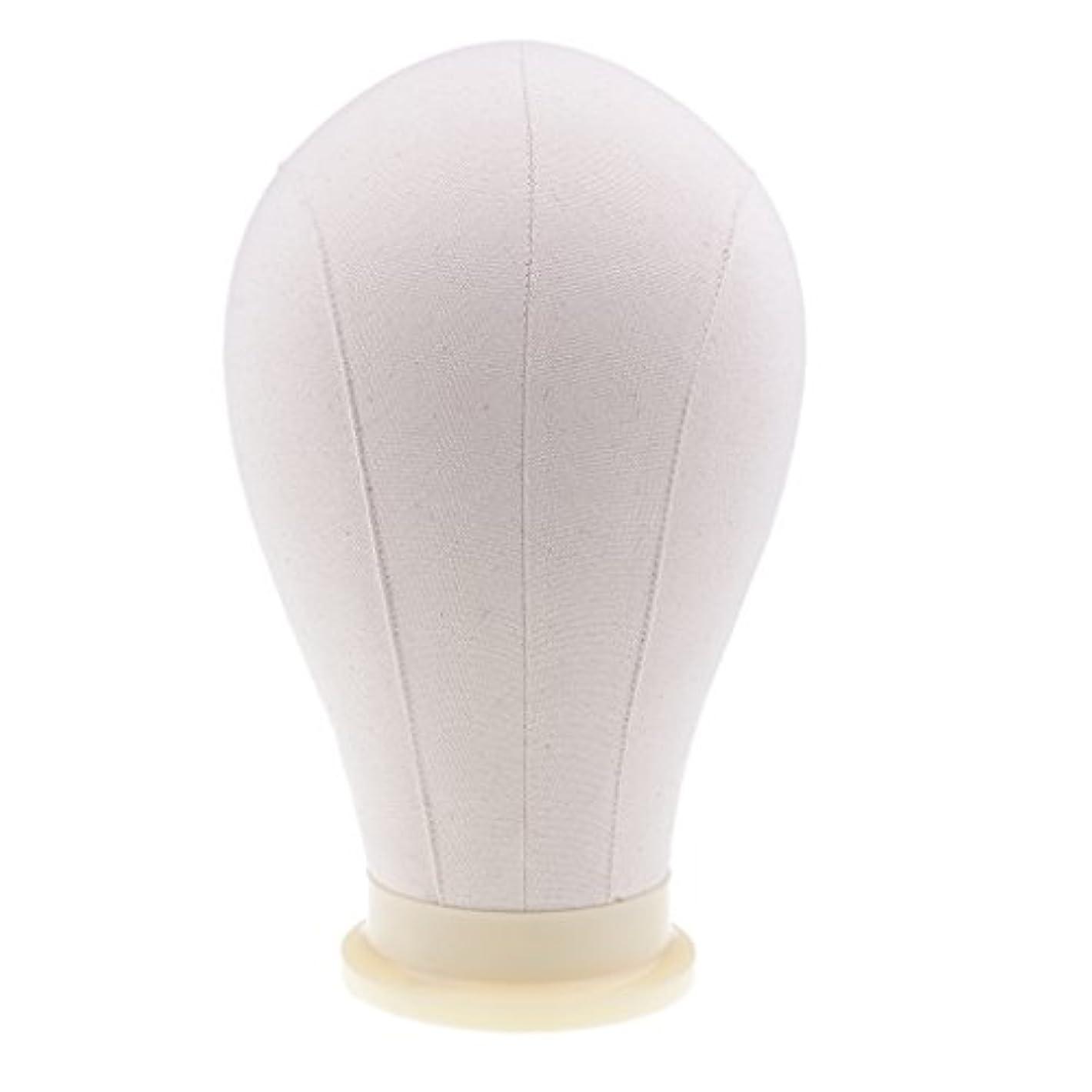 縫い目毎年アプローチSharplace マネキンヘッド ウィッグ キャンバス 頭部モデル かつら 帽子 メガネ ディスプレイ ホルダー 4サイズ - 24インチ
