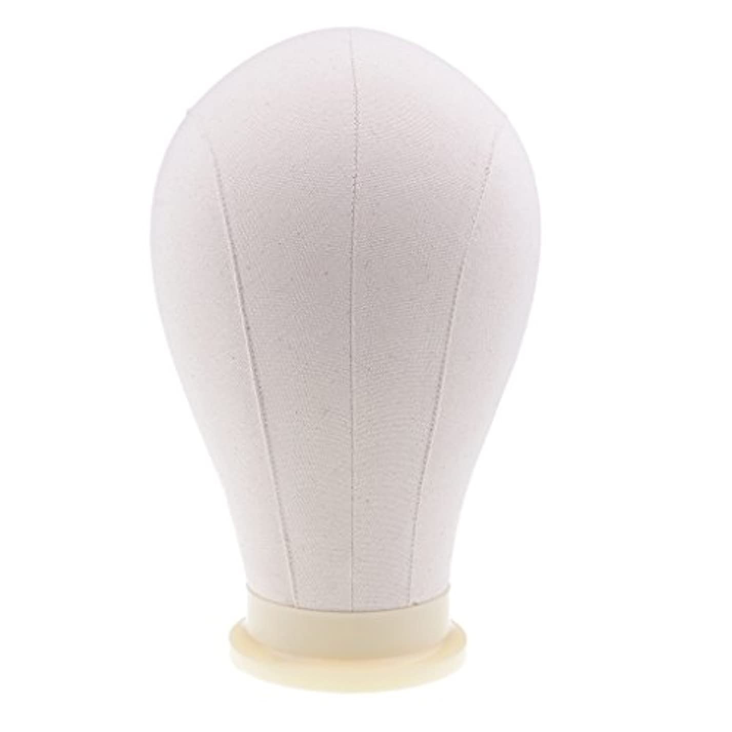 細い予防接種任意Sharplace マネキンヘッド ウィッグ キャンバス 頭部モデル かつら 帽子 メガネ ディスプレイ ホルダー 4サイズ - 24インチ