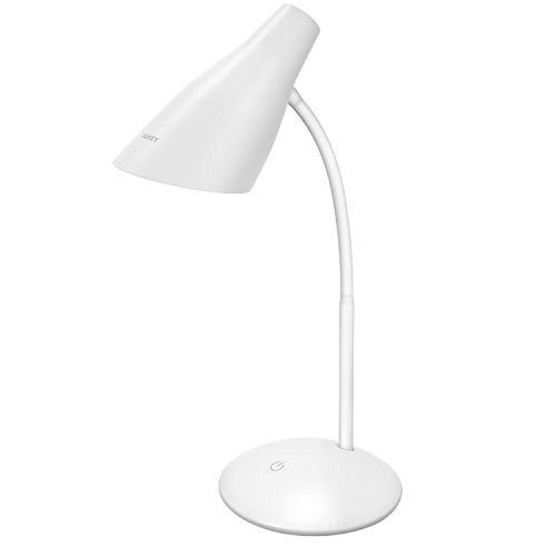 AUKEY LED 卓上スタンド タッチセンサー 機能 省エネ 三段階調光機能付き 目に優しい 寝室 USB式 仕事・読書・勉強ランプ ホライト LT-ST13