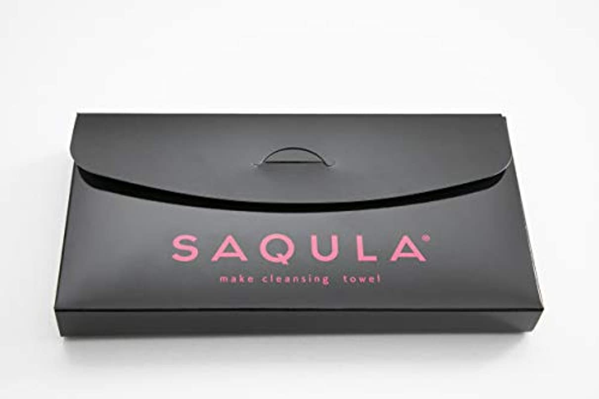 ドライバ湿ったオプションSAQULA クレンジングタオル ピンク テレビで紹介された 水に濡らして拭くだけで簡単にメイクが落とせるクレンジングタオル