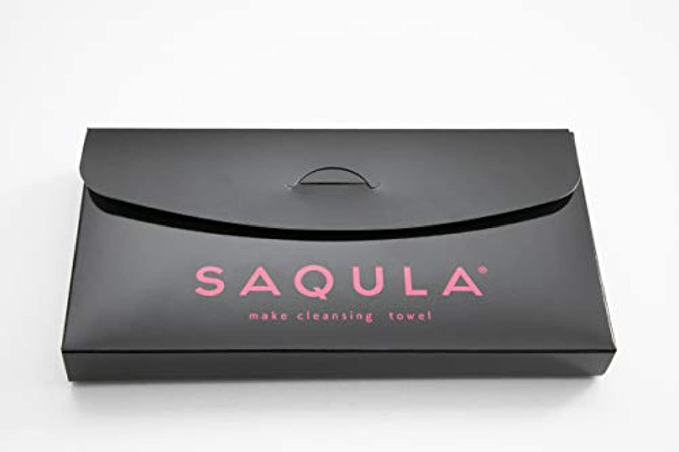 小人クリークフレアSAQULA クレンジングタオル ピンク テレビで紹介された 水に濡らして拭くだけで簡単にメイクが落とせるクレンジングタオル