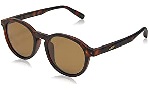 Local Supply Men's STATION Polarized Sunglasses - Dark Brown Tint Lens, Matte Tortoiseshell Frames