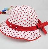 洗える 可愛い 水玉 ベビー 赤ちゃん 帽子 (タイプA)