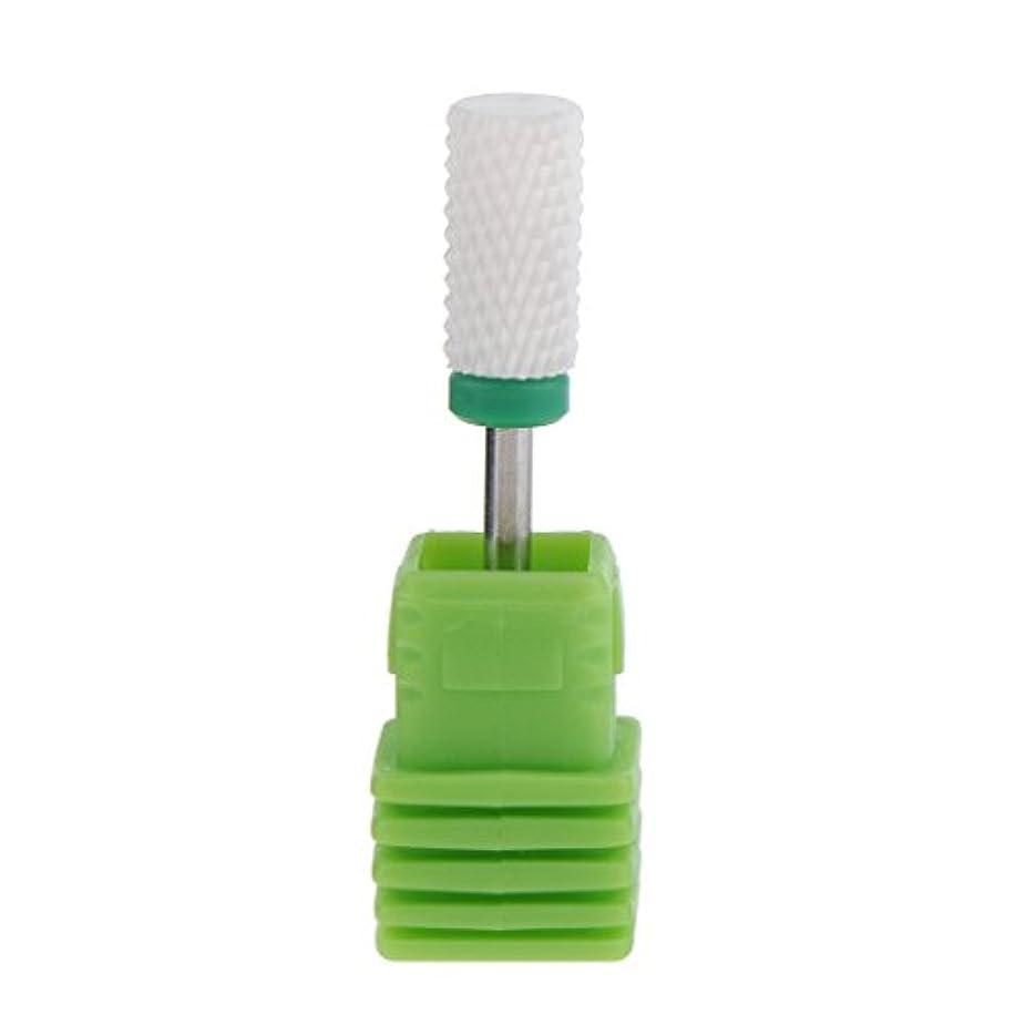 包帯系統的夫ネイルアート ドリルビット セラミック 研磨ヘッド 電気 ドリル プロ ネイル 個人用 6色選べ - グリーン