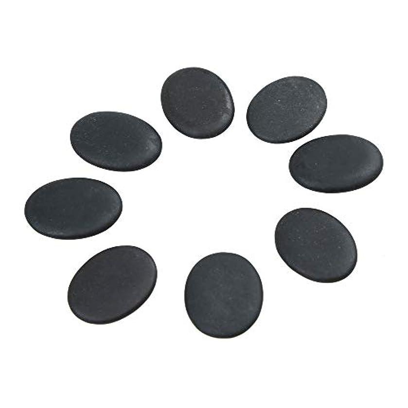 必要とするバイバイタブレットWindfulogo 8個入りホットマッサージストーンセット天然溶岩玄武岩スパマッサージ用暖かいストーンブラックBlack1.18 x 1.57 in(3x4cm)