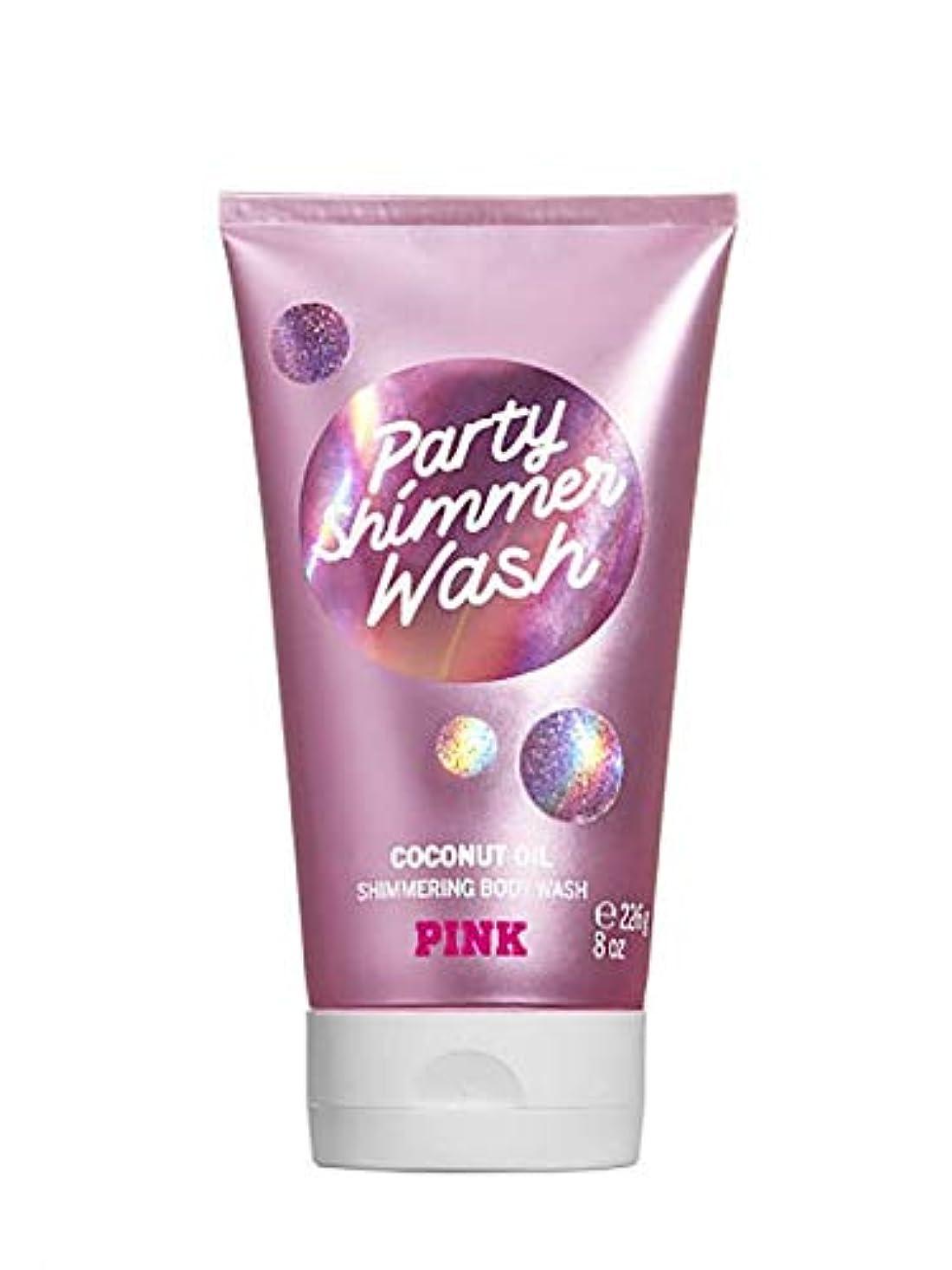 クロス祈りマイクロフォンVICTORIA'S SECRET Party Shimmer Coconut Oil Shimmering Body Wash
