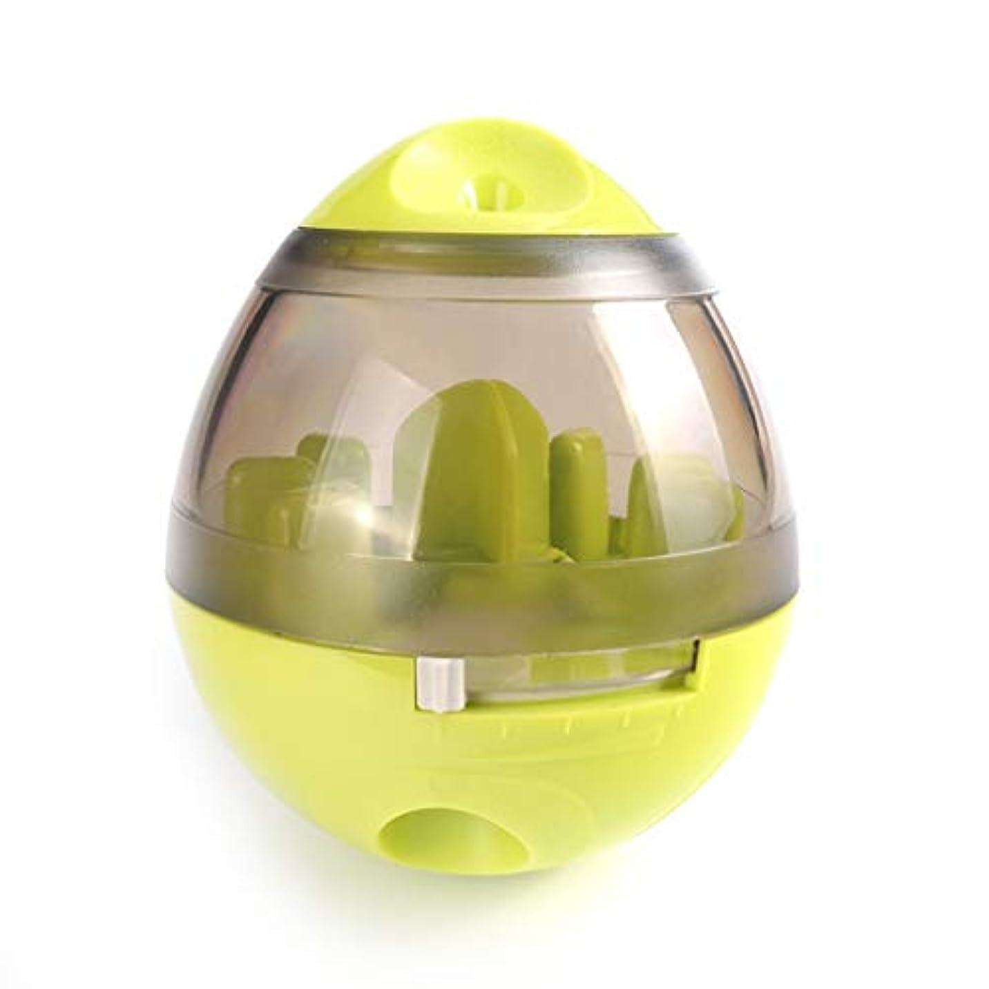 教育者専ら船尾IUYWLペットボール ペット用おもちゃ、タンブラーラバーベース、噛みにくいペット、フードボール、パズルペットトレーニングボール IUYWLペットボール (Color : Green)