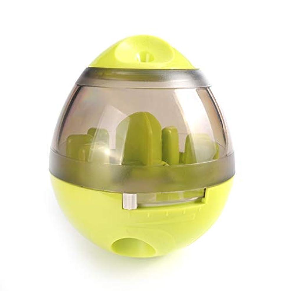 テーマ緩やかな優雅IUYWLペットボール ペット用おもちゃ、タンブラーラバーベース、噛みにくいペット、フードボール、パズルペットトレーニングボール IUYWLペットボール (Color : Green)