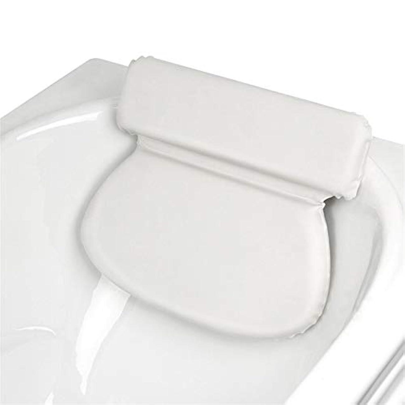 敬礼ペニー午後浴槽枕 スパ風呂枕首肩のサポートスリップ余分な厚さは、リラックス体験を提供します バスルーム枕 (色 : 2 pack White)