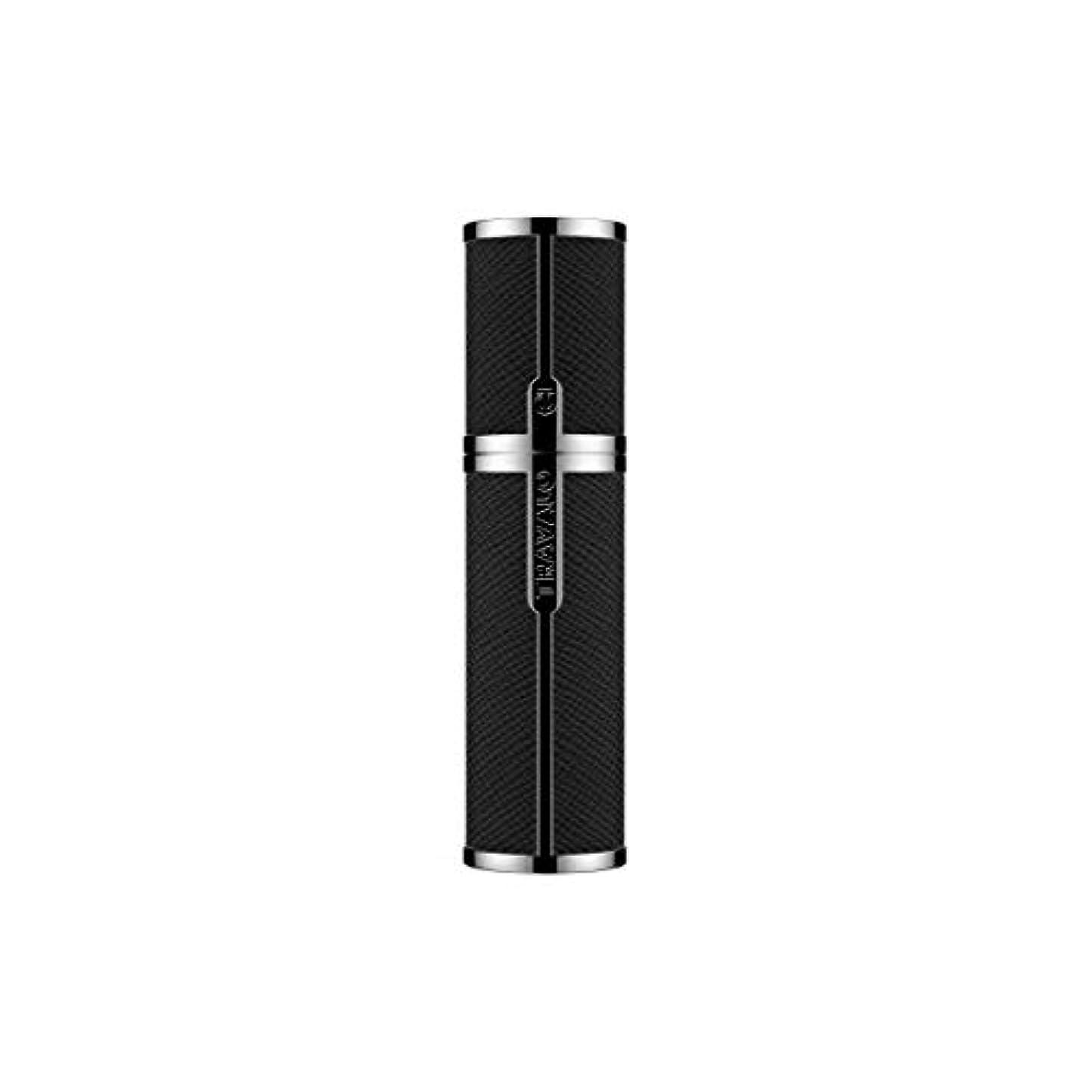 合金不運充電TRAVALO (トラヴァ―ロ) ミラノ アトマイザー ブラック 香水 旅行 携帯 詰め替え ボトル 簡単 香水スプレー