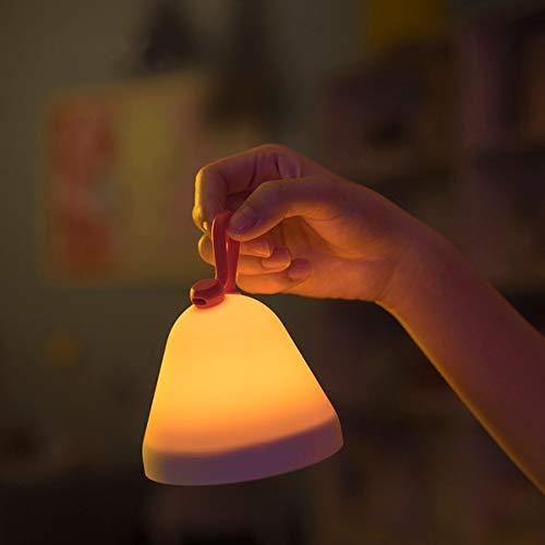 Excelvan ナイトライト ベッドサイドランプ 多機能 日時 目覚まし時計 温度 湿度モニター Fun Fun Lamp 明るさ4段階調整可能 USB充電 子供安全素材 雰囲気作り プレゼント 授乳用 停電対策