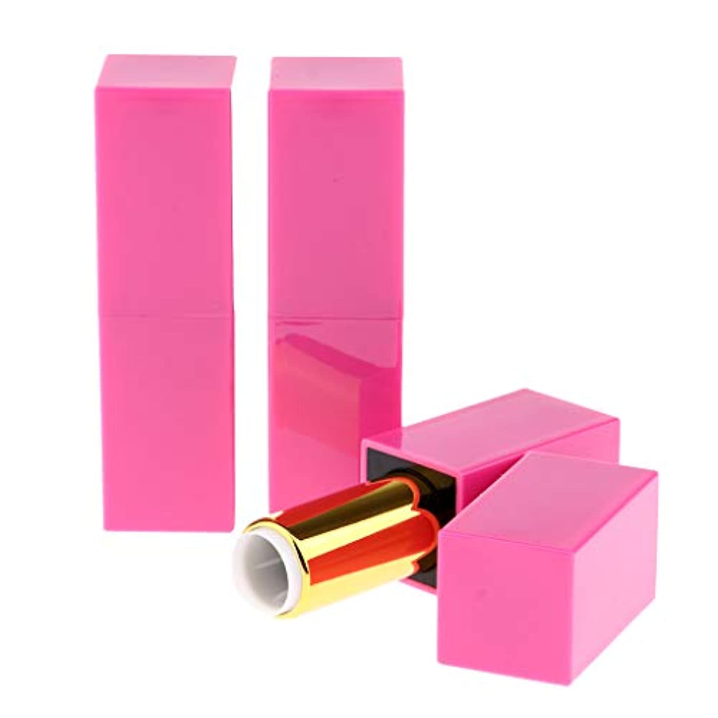 F Fityle 空の口紅チューブ 全3本 口紅チューブ 化粧チューブ 空詰め替えリップチューブ