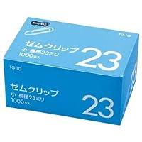 (まとめ) TANOSEE ゼムクリップ 小 23mm シルバー 業務用パック 1箱(1000本) 【×20セット】 ds-1579571