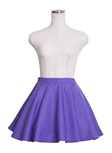 IC フレアスカート コスチューム レディース 紫...