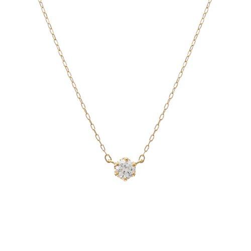 4℃ (ヨンドシー) 0.15ctダイヤモンド K18イエローゴールド(YG)ネックレス 111031123001