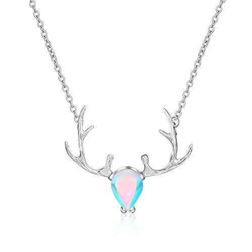 Miss.Kitty レディースシルバー925ファッションネックレス鹿母の日バレンタインデー記念日誕生日贈り物