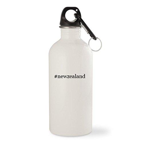 # newzealand–ホワイトハッシュタグ20ozステンレススチールウォーターボトルカラビナ