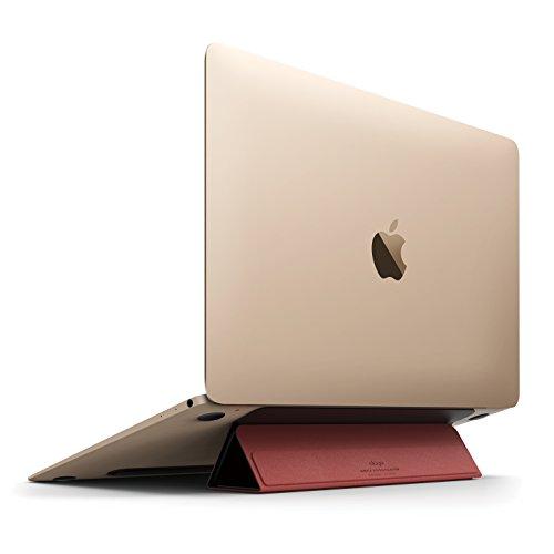 elago FLIP STAND 各種 Macbook / ノートパソコン 対応 フリップスタンド for MacBook Pro 2016 / MacBook Pro 13 / MacBook Pro 15 / MacBook Air 11 / MacBook Air 13 / MacBook 12 ブラック×レッド 【国内正規品】