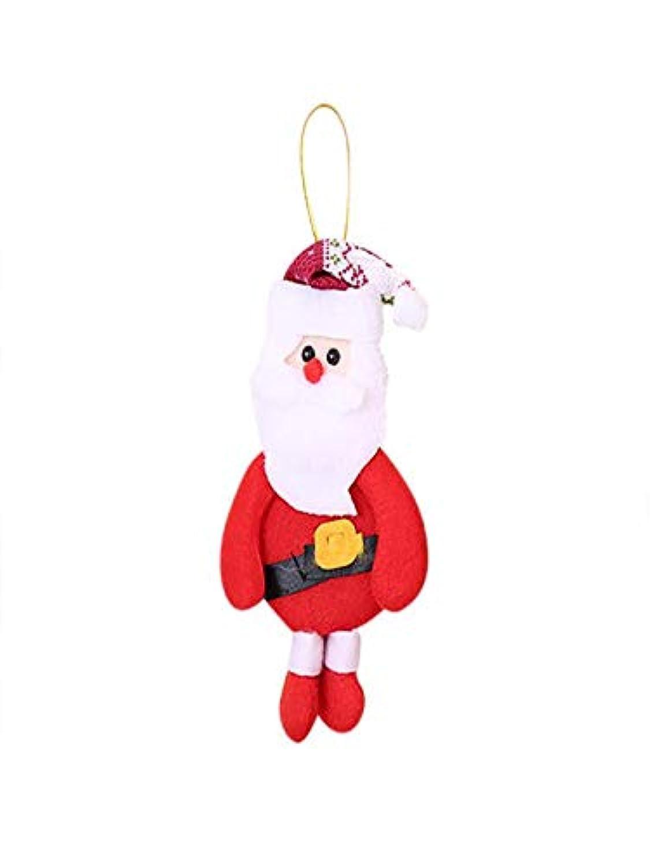 Leedford クリスマスオーナメント ギフト サンタクロース 雪だるま ツリー 人形 吊り下げ デコレーション One Size