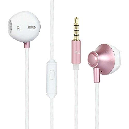 カナル型 ヘッドフォン サラウンド 重低音 高音質 zeceen M800イヤホン Iphone / iPod / iPad / MP3プレーヤー/ Samsung Galaxy /ソニー / HTC / Nexus / など対応 イヤホン インナーイヤー型 (ローズゴードル)
