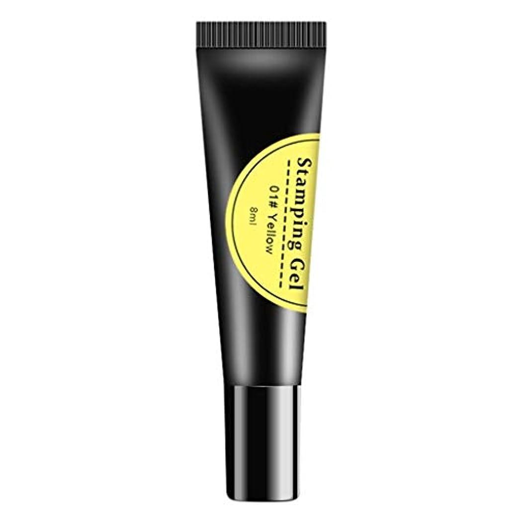 ぬるい貼り直す舌ネイルジェル ジェルポリッシュ ネイルポリッシュ カラージェル 蛍光 家庭 ネイルサロン 適用 全6カラー - 黄色