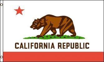 RoomClip商品情報 - アメリカンフラッグ★カリフォルニア州旗★3x5ft (90x150cm)california USAサーフ