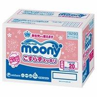 【限定商品】 ムーニーおしりふき こすらずスッキリ 詰替60枚×20(1200枚)