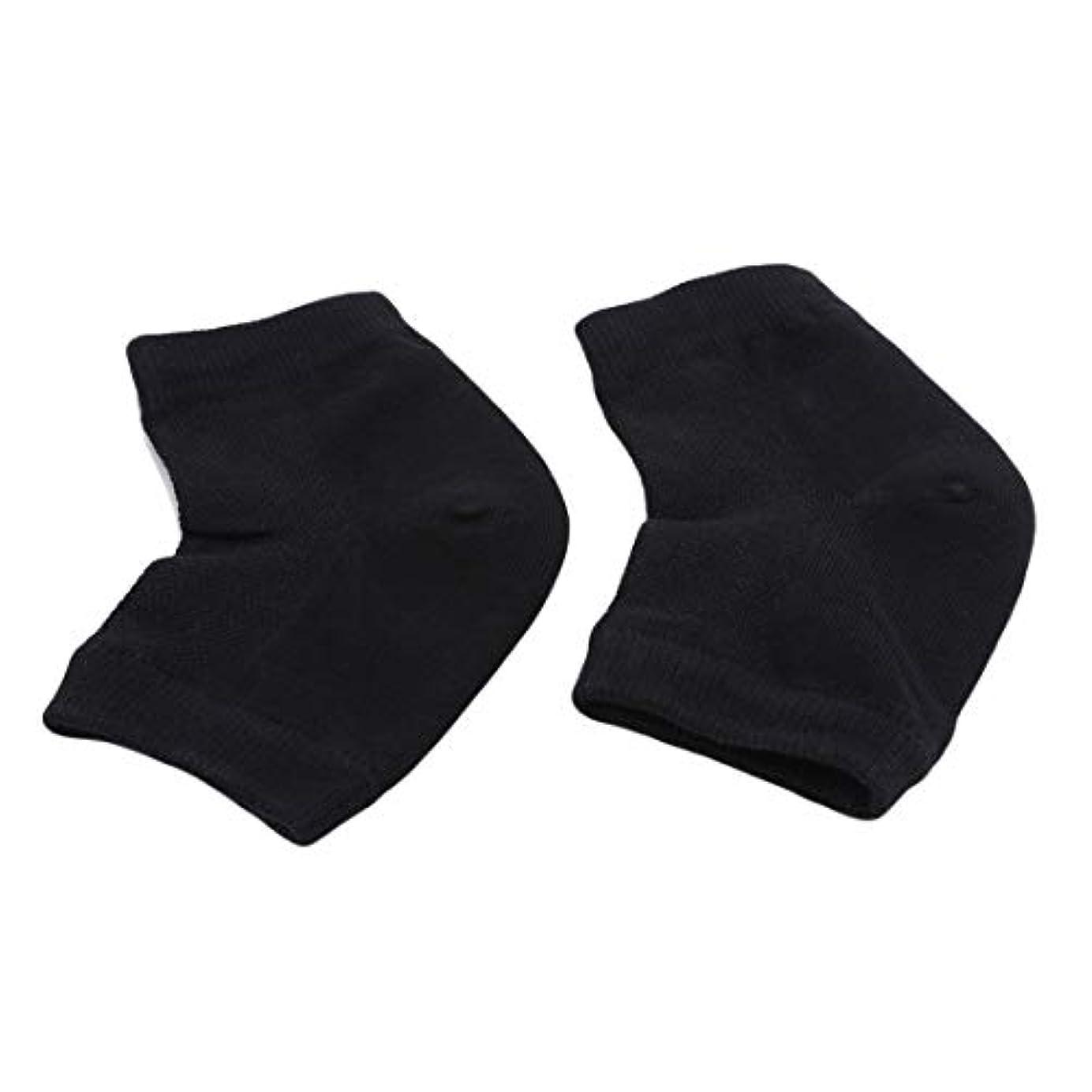 縫う外部リラックスしたKLUMA かかと靴下 ソックス 角質ケア スベスベ ツルツル うるおい 保湿 フットケア レディース メンズ 男女兼用 フリーサイズ 黒色