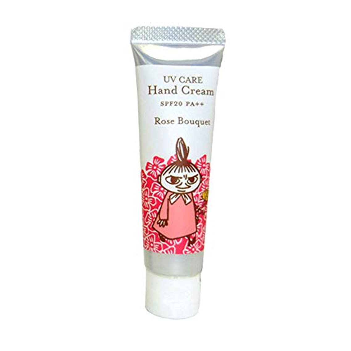 アサー鋸歯状核【ムーミン】UVケアハンドクリーム ローズブーケの香り SPF20 PA++