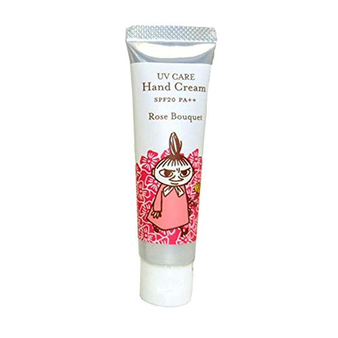 渇きる好む【ムーミン】UVケアハンドクリーム ローズブーケの香り SPF20 PA++
