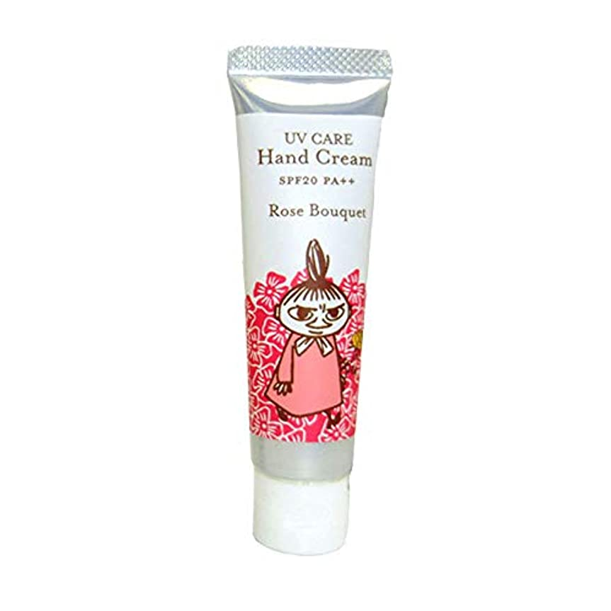 発行するまた明日ね周術期【ムーミン】UVケアハンドクリーム ローズブーケの香り SPF20 PA++