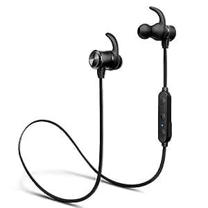 進化版 24時間連続再生 Bluetooth イヤホン iTeknic スポーツ ワイヤレス イヤホン Hi-Fi 高音質 マグネット搭載 AAC対応 内蔵マイク搭載 ハンズフリー通話 ブルートゥース イヤホン IPX4防水 DSPノイズキャンセリング Bluetooth ヘッドホン iPhone、Android各種対応 (ブラック)