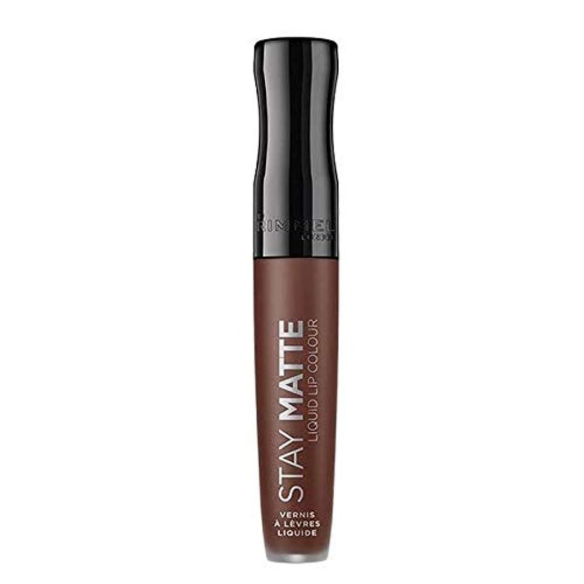 隔離する最も遠いかもしれない[Rimmel ] リンメルステイマット液体リップ口紅プランジ - Rimmel Stay Matte Liquid Lip Lipstick Plunge [並行輸入品]