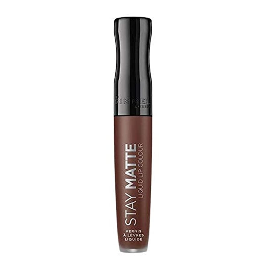 圧縮する寛大さ前奏曲[Rimmel ] リンメルステイマット液体リップ口紅プランジ - Rimmel Stay Matte Liquid Lip Lipstick Plunge [並行輸入品]
