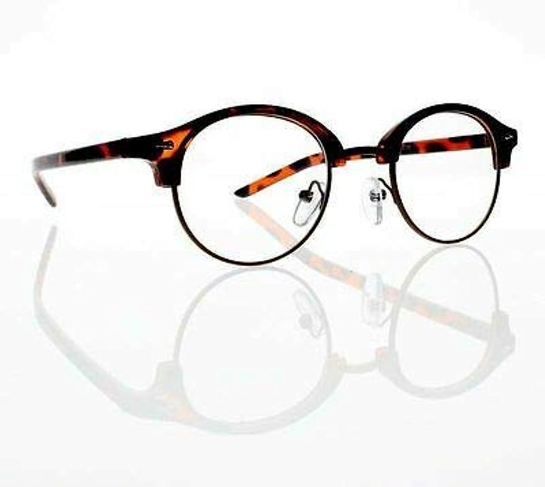 FidgetGear 新しいユニセックスレトロラウンドフレームクリアレンズ老眼鏡+1.0 + 2.0 + 3.0 + 4.0 カメ