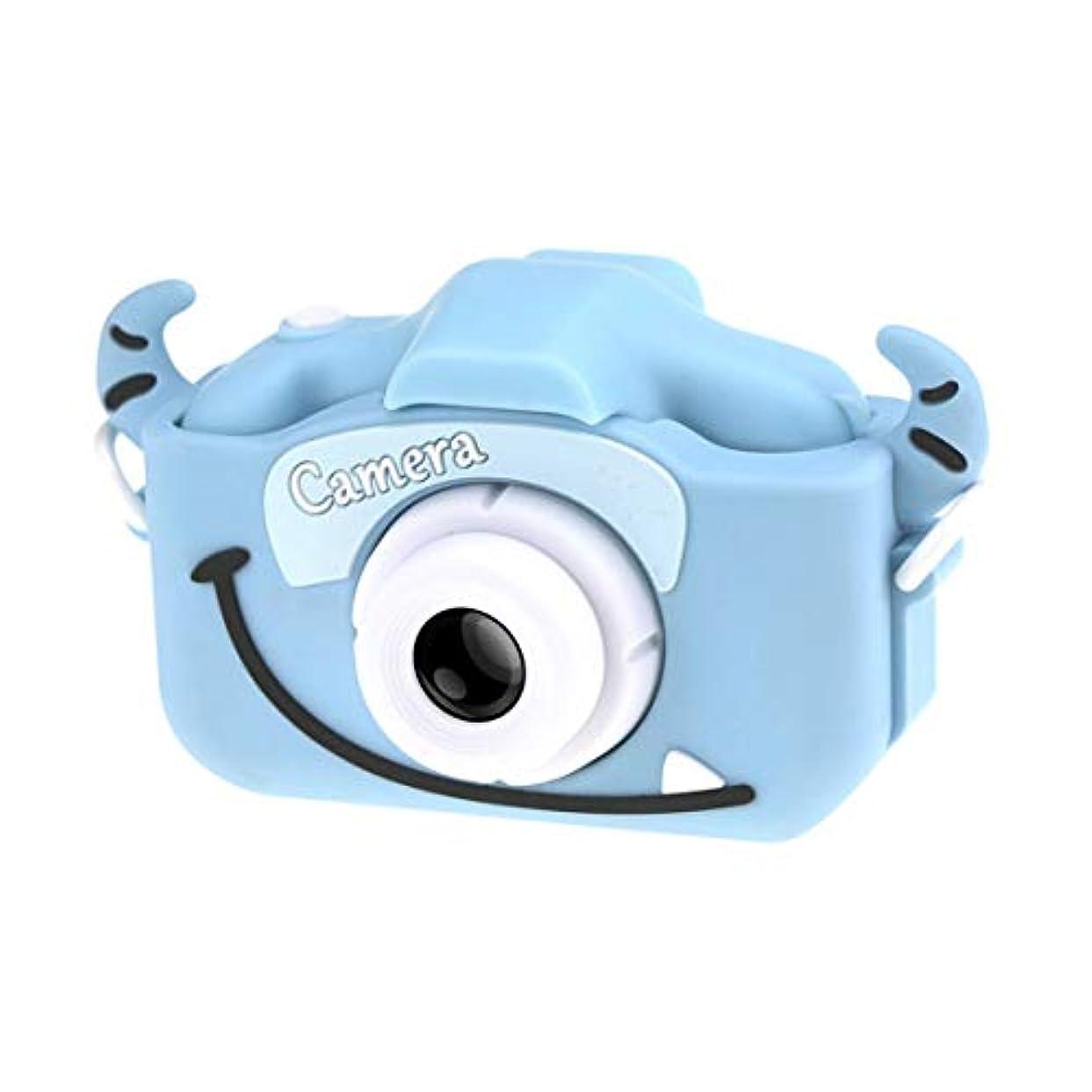 困惑した北極圏強調子供用ミニカメラ子供用教育玩具子供用ベビーギフト誕生日プレゼントデジタルカメラプロジェクションビデオカメラ-ブルー