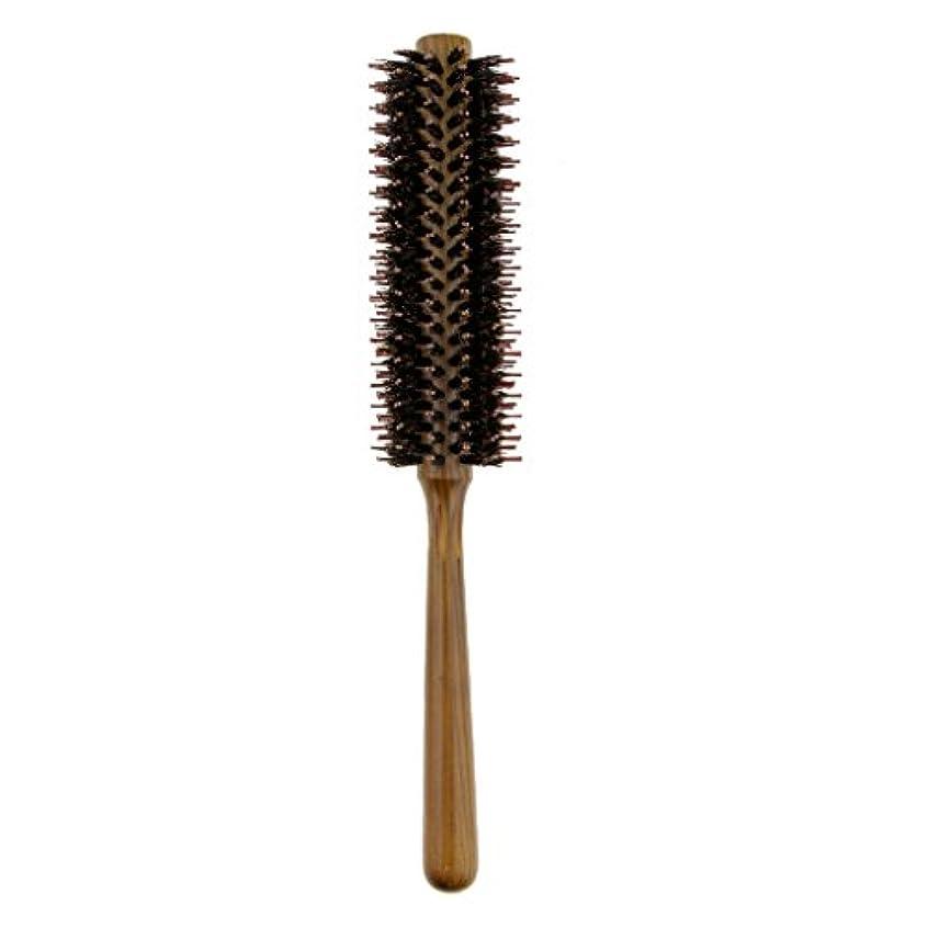 誰かリクルート受粉するToygogo ヘアブラシカーリングヘアラウンドブラシバレルヘアスタイリングコームヘアブラシ - S