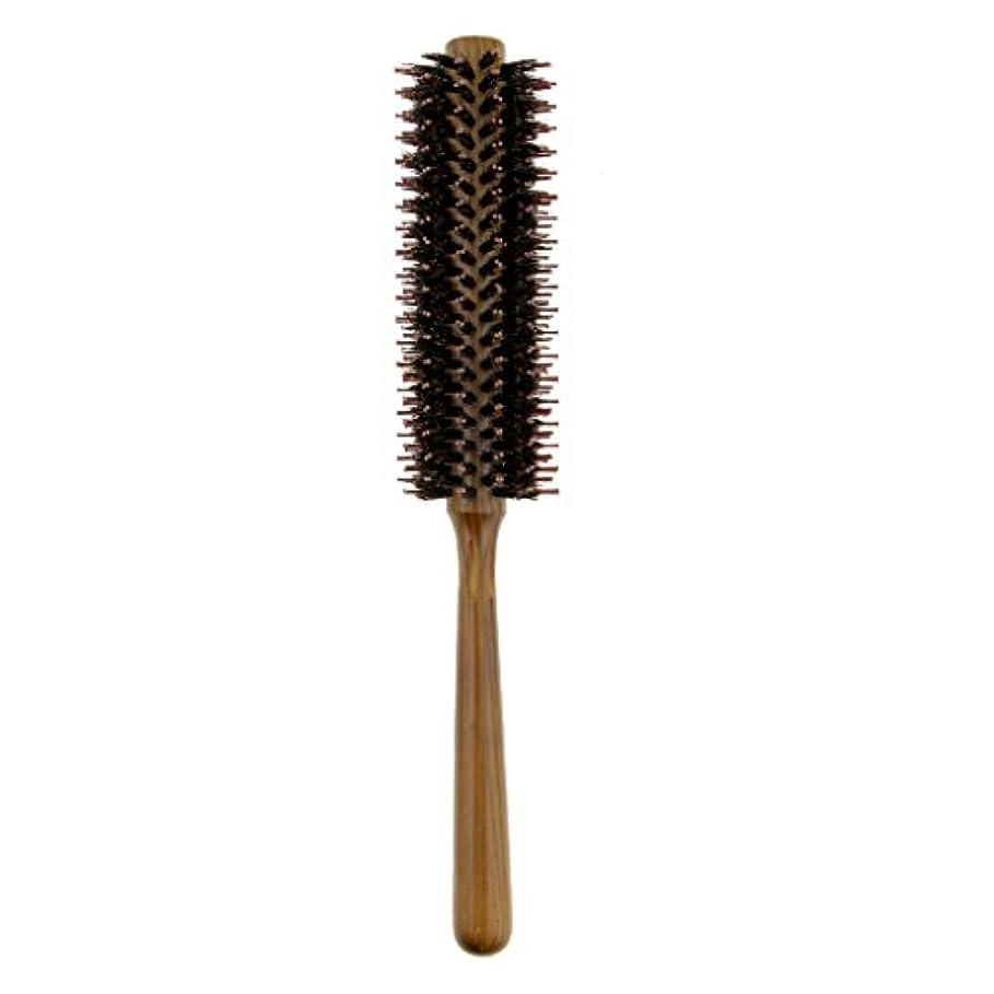 寛解そのようなこっそりToygogo ヘアブラシカーリングヘアラウンドブラシバレルヘアスタイリングコームヘアブラシ - S