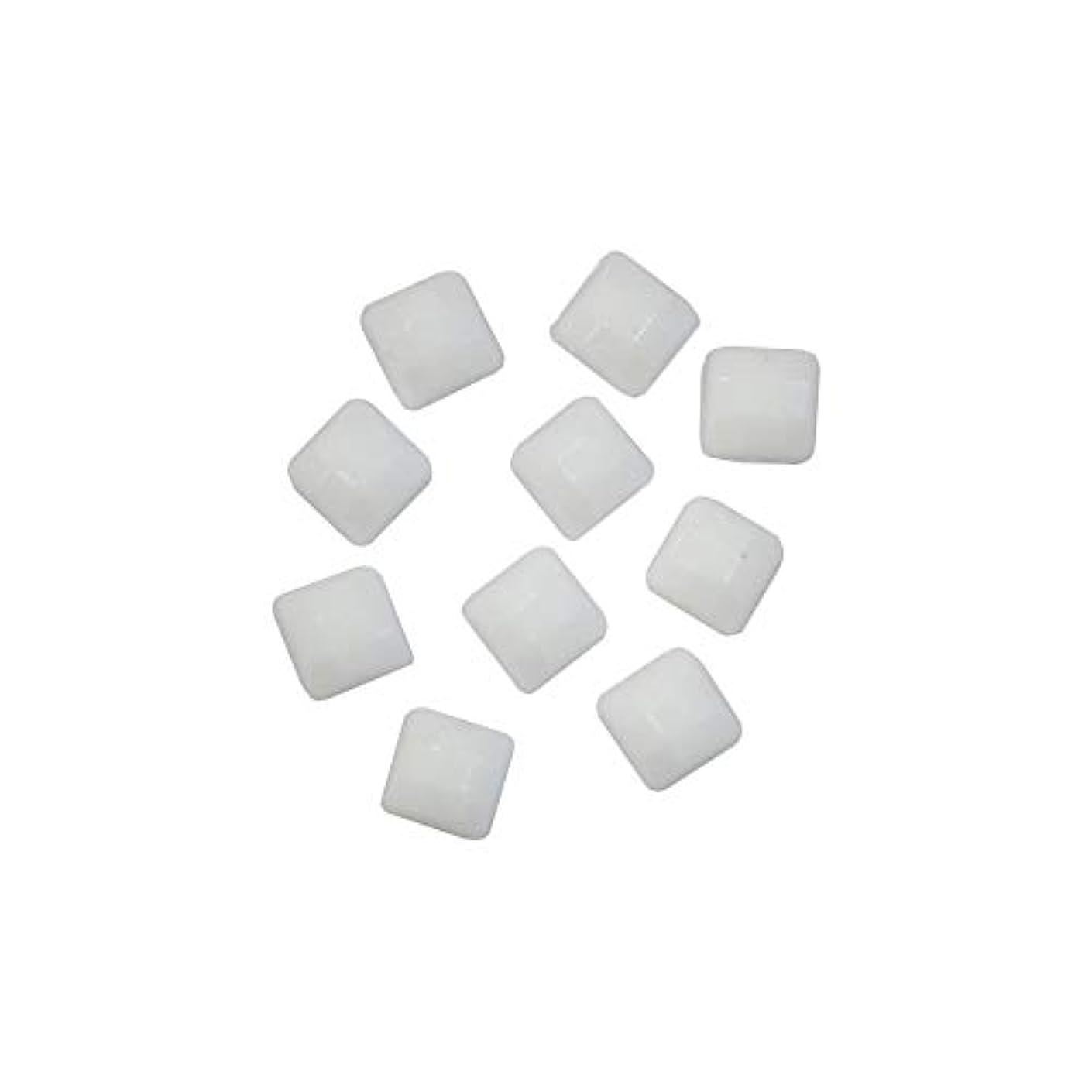 武器木材コールスクエアストーン 30粒 / 色々使える四角いアクリルストーン (ホワイト 4mm)