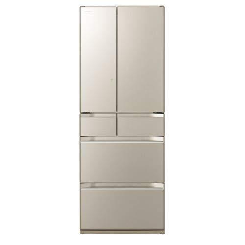 日立 567L 6ドア冷蔵庫(ファインシャンパン)HITACHI KWシリーズ R-KW57K-XN