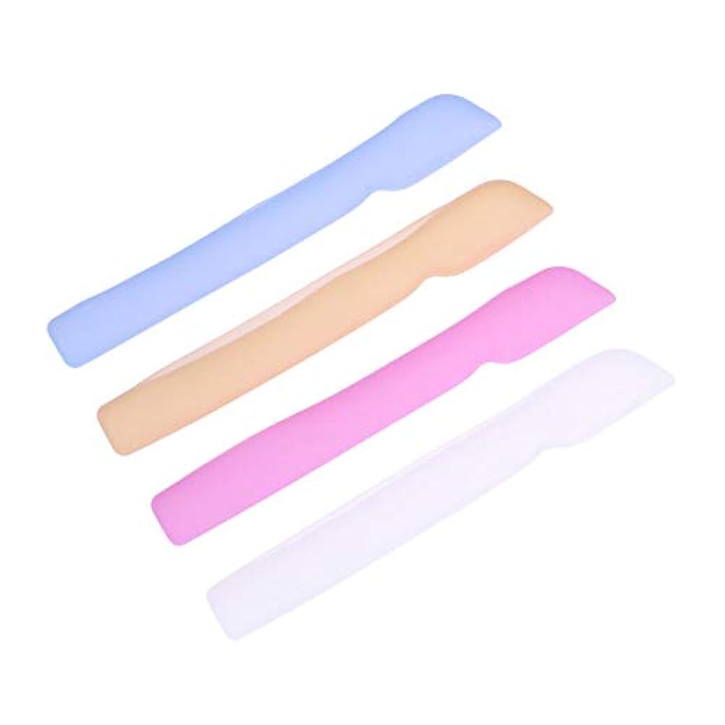 コンセンサスコンチネンタルワークショップHEALLILYシリコン歯ブラシケースカバー歯ブラシ用保護カバー保護ケース用4本(ブルー+ピンク+ライトイエロー+ホワイト)