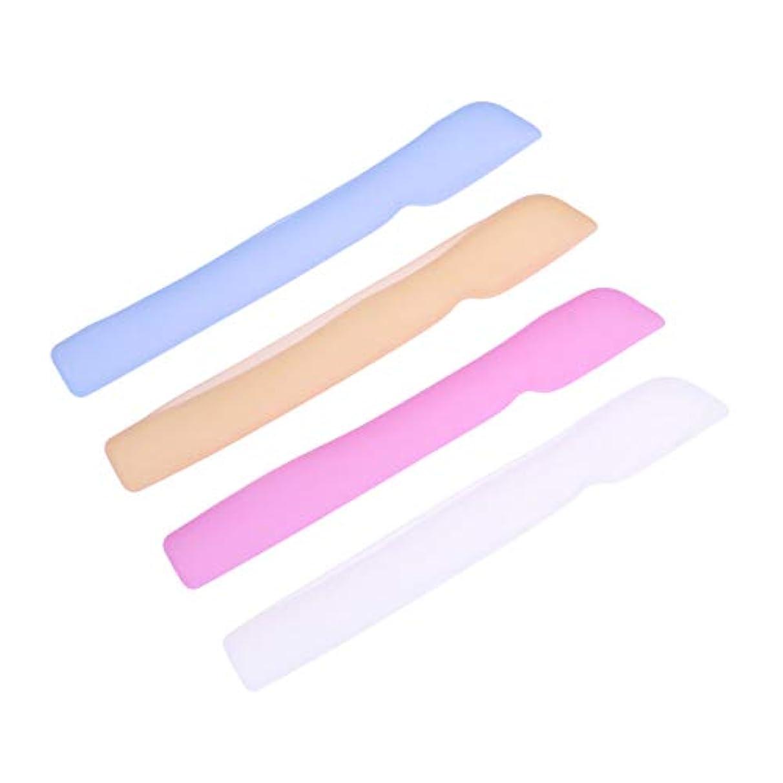 バッフルクライアント求めるHEALLILYシリコン歯ブラシケースカバー歯ブラシ用保護カバー保護ケース用4本(ブルー+ピンク+ライトイエロー+ホワイト)