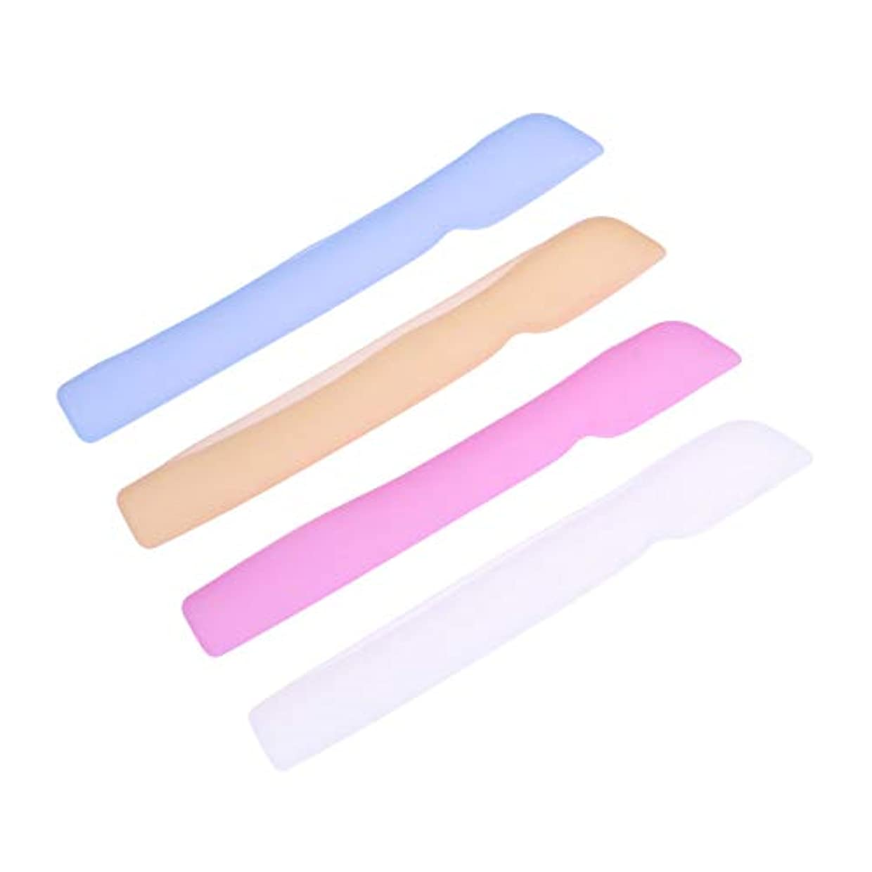 変わるサイトライン長老HEALLILYシリコン歯ブラシケースカバー歯ブラシ用保護カバー保護ケース用4本(ブルー+ピンク+ライトイエロー+ホワイト)