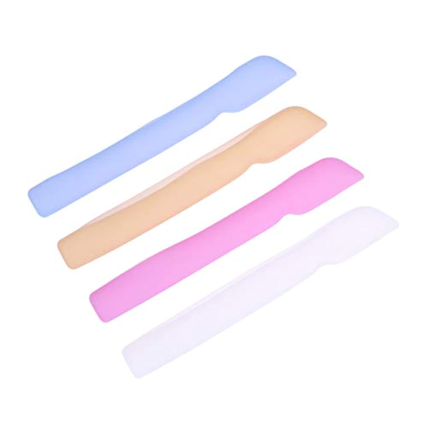 隣人地質学厚いHEALLILYシリコン歯ブラシケースカバー歯ブラシ用保護カバー保護ケース用4本(ブルー+ピンク+ライトイエロー+ホワイト)